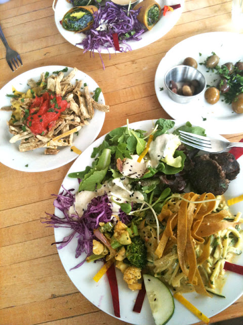 My delicious vegan and gluten-free meal at Julian's Planet Raw restaurant in Santa Monica