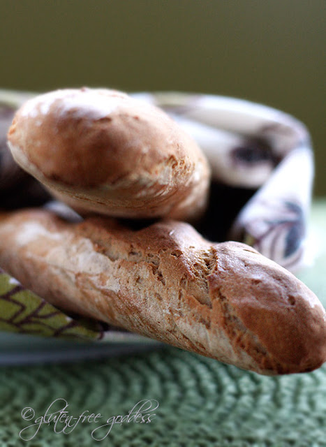 Gluten free baguettes made from Pamela's Bread Mix