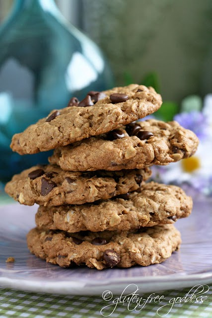 Gluten free chocolate chip oatmeal cookies with certified gluten free oats