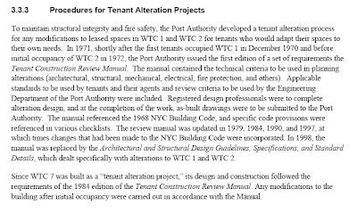 Texto: Procedimientos para los proyectos de reforma por parte de los inquilinos de las Torres Gemelas
