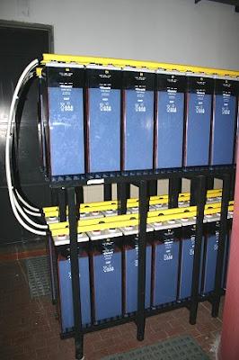 Vista de las baterías