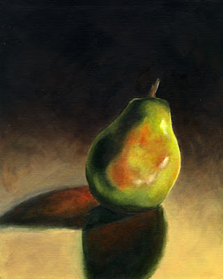 acrylic pear painting