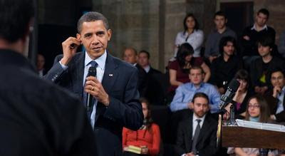 Obama reunido com estudantes em Istambul