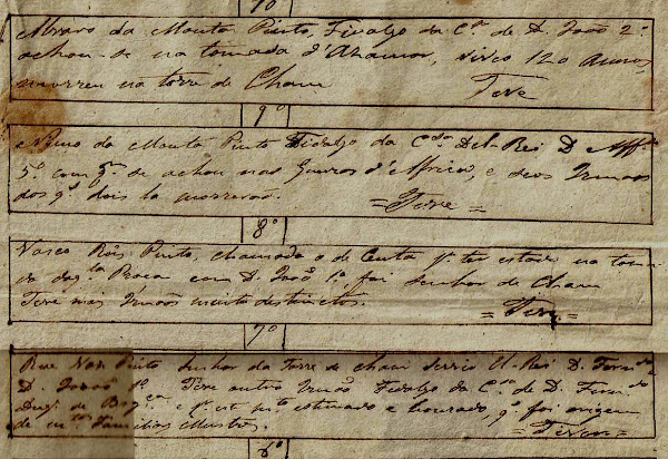 Genealogia manuscrita dos Pinto da Torre de Chã