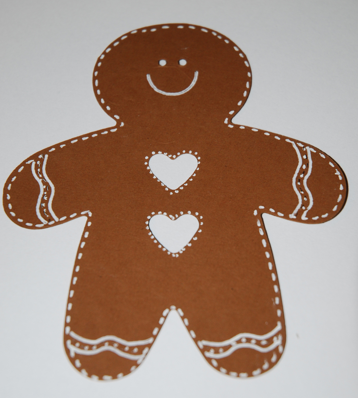 Gingerbread Man Outline Embellish the gingerbread man