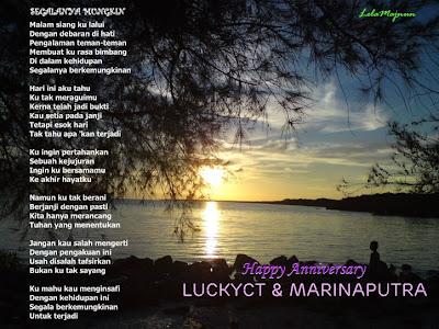 ucapan & doa sempena hari ulang thn perkahwinan kami yg 19thn pada 6hb