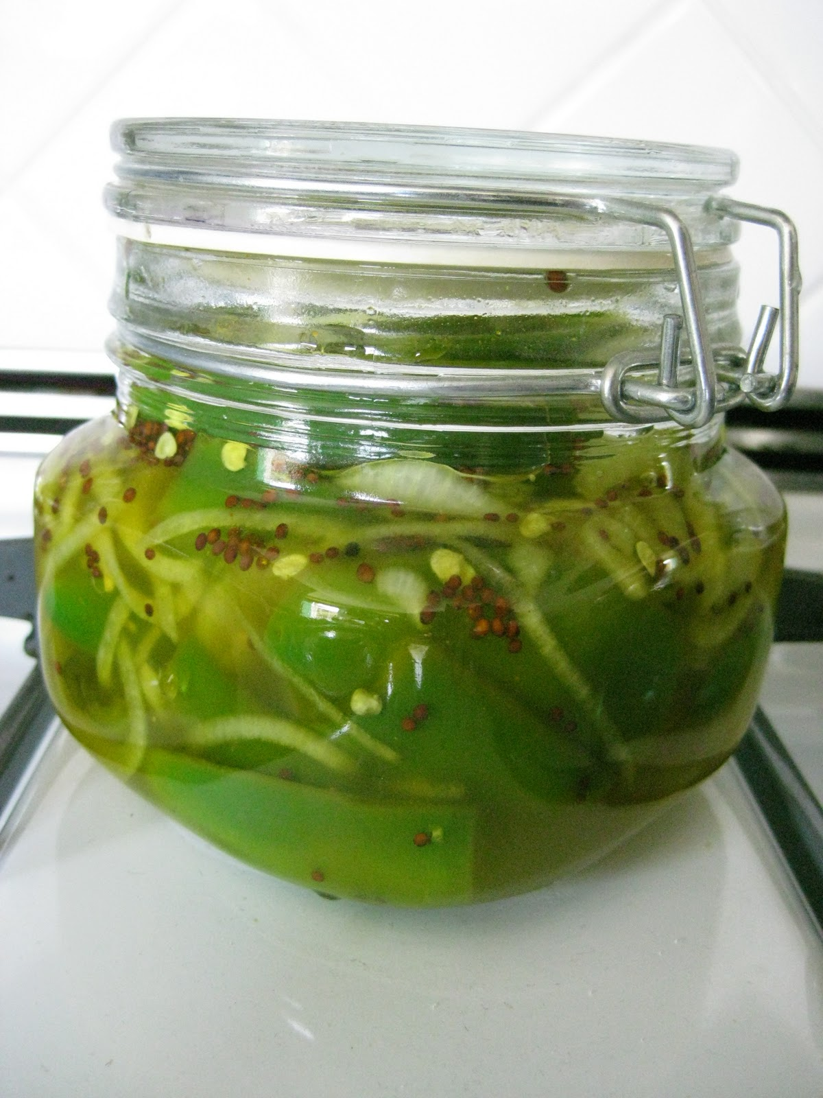 ... by the Haggis and the Herring: Jalapeno Bread and Butter Pickles