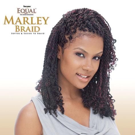 Kinky Twist with Marley Braid Hair