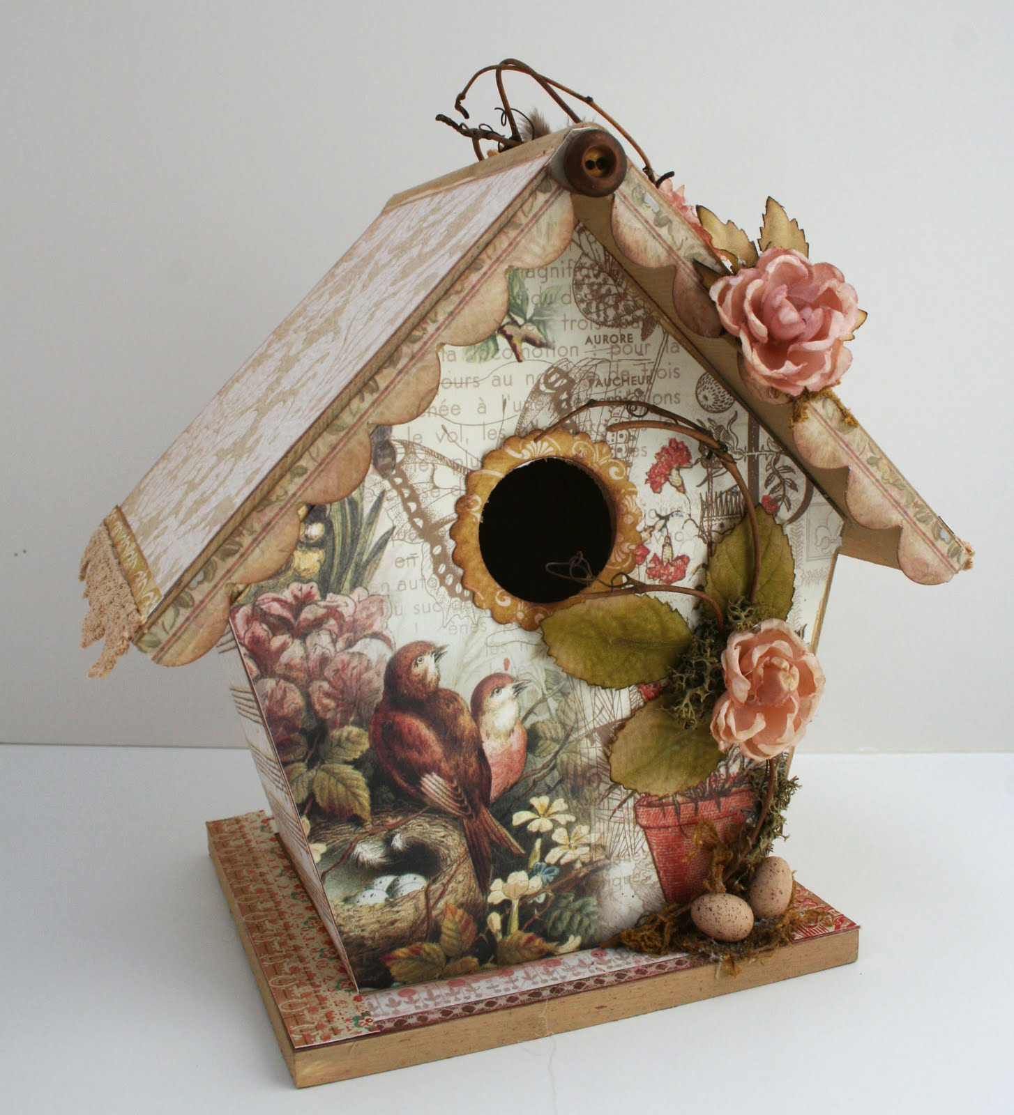 This art that makes me happy sharing a new project and for Birdhouse project