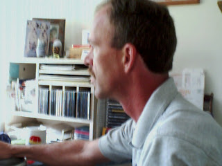 the author, Jim Bessey, at his desk in Upstate NY