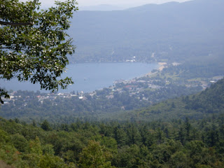 lake George village from summit