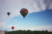 hot air balloon launch at Dansville Balloon Fest