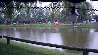 pond and cabins from under the awning, KOA Cdga [c]2008 jcb