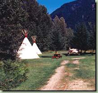 Revelstoke KOA teepees, stock photo