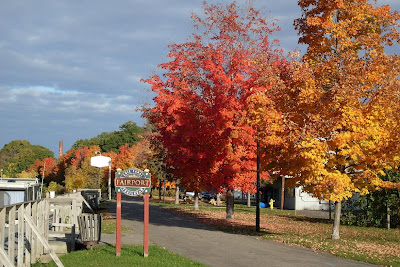 fall foliage at path, Erie Canal at Fairport NY (c)2008 jcb