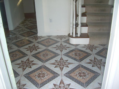faux mosaic foyer tile