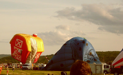 Dansville Balloon Fest barn balloon