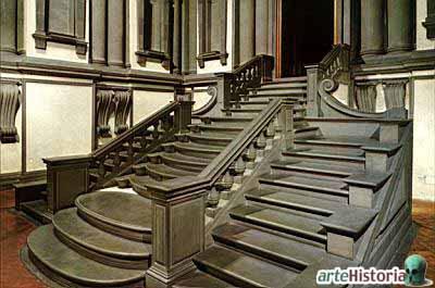 Historia del arte arte renacentista el cinquecento - Escalera de biblioteca ...