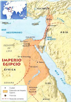 El Imperio Antiguo De Egipto Mapa