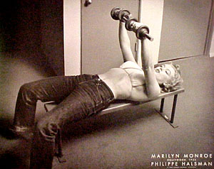 Even she knew that weights are what make the woman