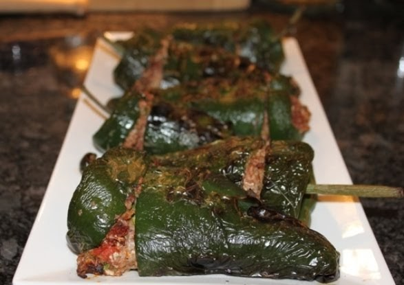 Kitchen Snaps: Stuffed Poblano Peppers with Black Beans and Cheese and ...
