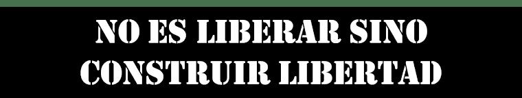 No es liberar sino konstruir libertad