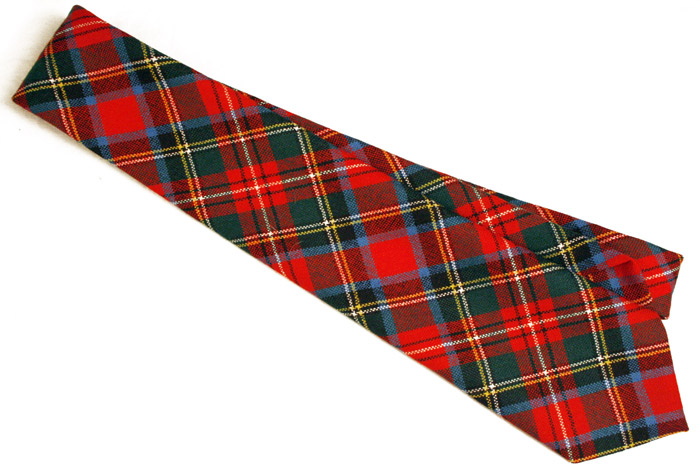 bright red wool tartan