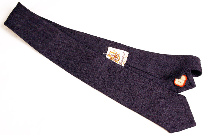dark blue textured silk