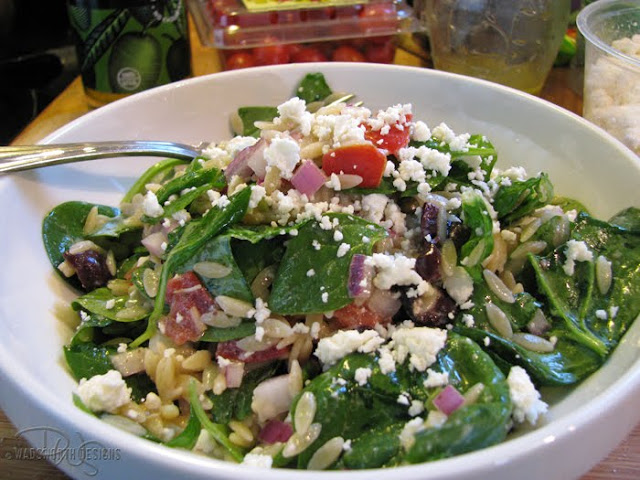 Kismet, Art, and Life: Greek Spinach Orzo Salad