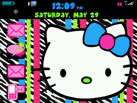 Hello Kitty Zebra Wallpaper. FREE hello kitty zebra theme