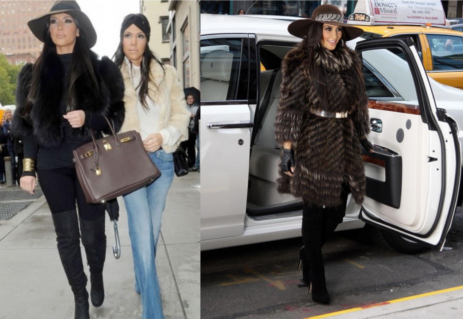 Model street style kim kardashian