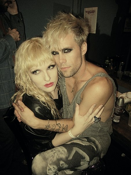 Darian Darling and Justin Tranter backstage at Semi Precious Weapons Perez Hilton Concert