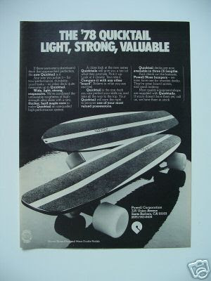 Quicktail skateboard
