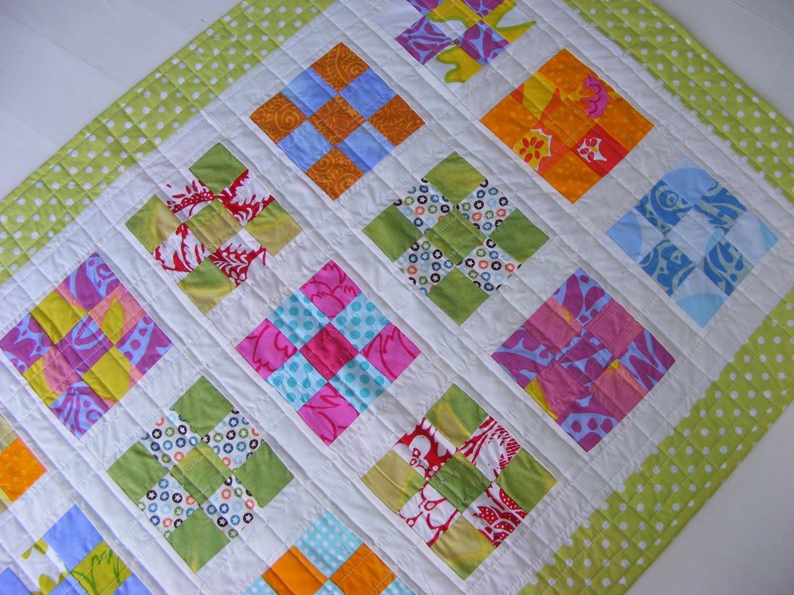 Blimunda quilts nine patch baby quilt number three