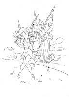 Silvermist and Tinkerbell coloring page
