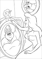 Ariel disney princess black and white page to color