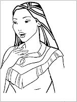 disney princess Pocahontas page to color