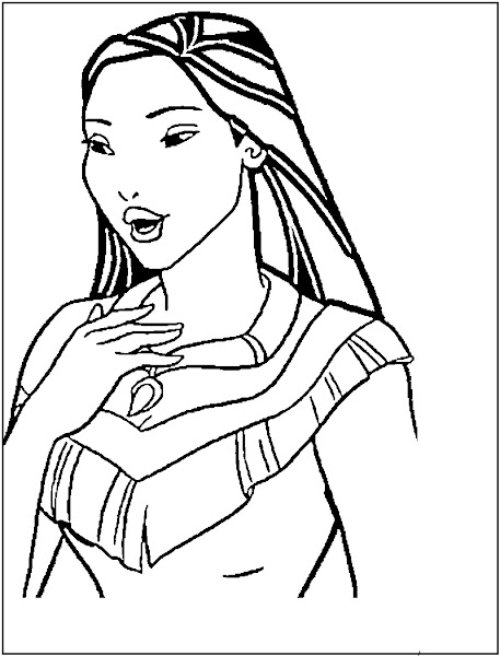 Disney Pocahontas Coloring Pages To Print