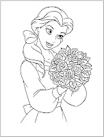 disney princess Belle coloring picture