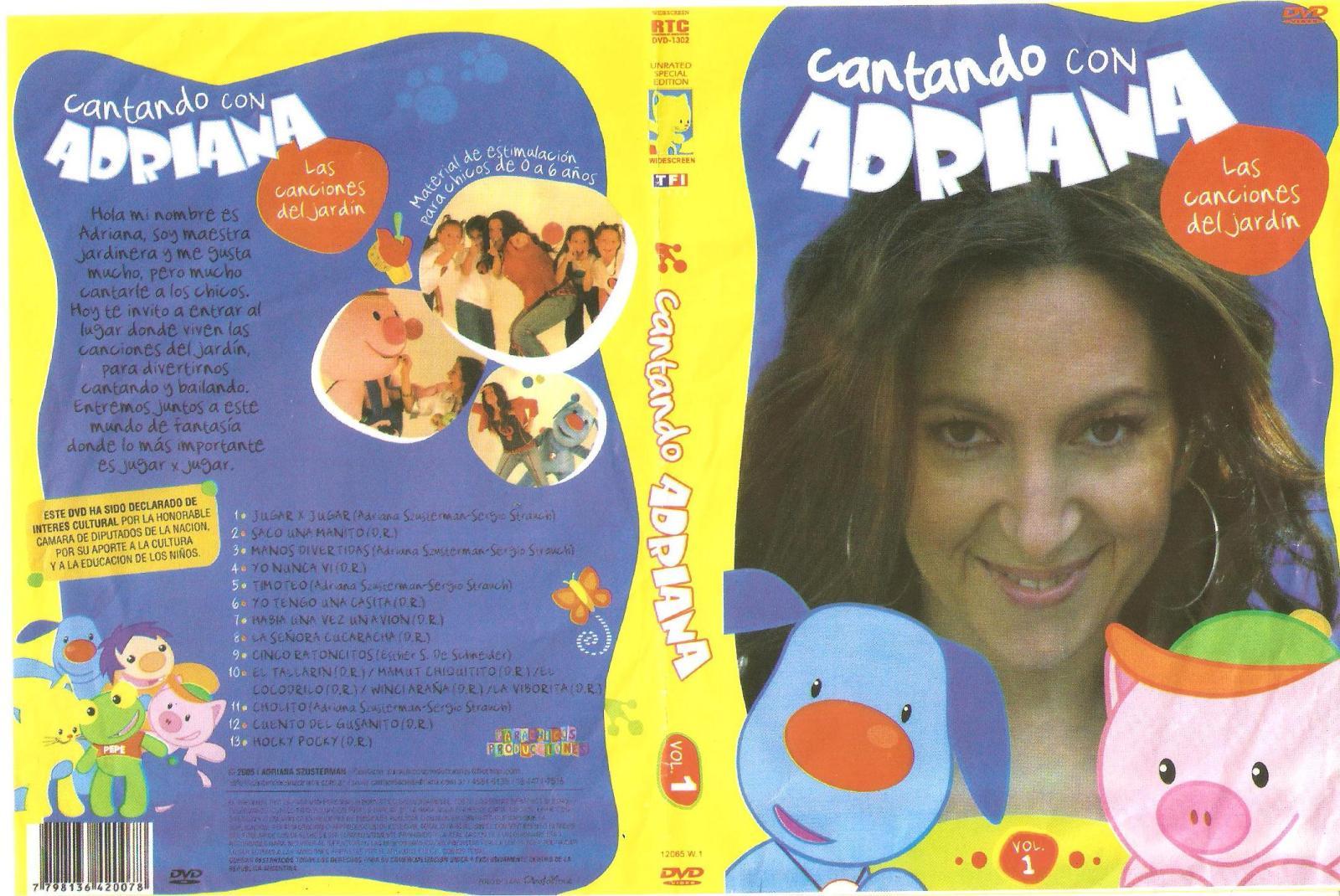 Cantando Con Adriana Dvd Cantando Con Adriana Vol 1