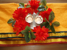 Silk Panchay used as Table Runner