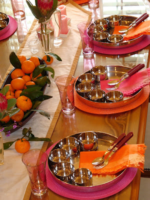 Ethnic indian decor traditional thali setting by komali nunna for Thai decorations ideas