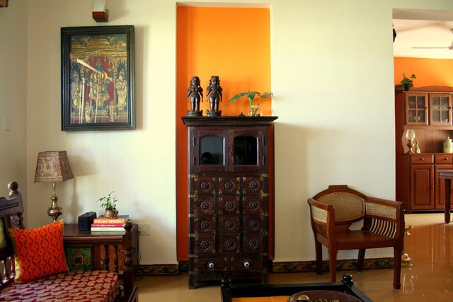 Ethnic indian decor an indian home in bangalore Home decor paintings for sale india