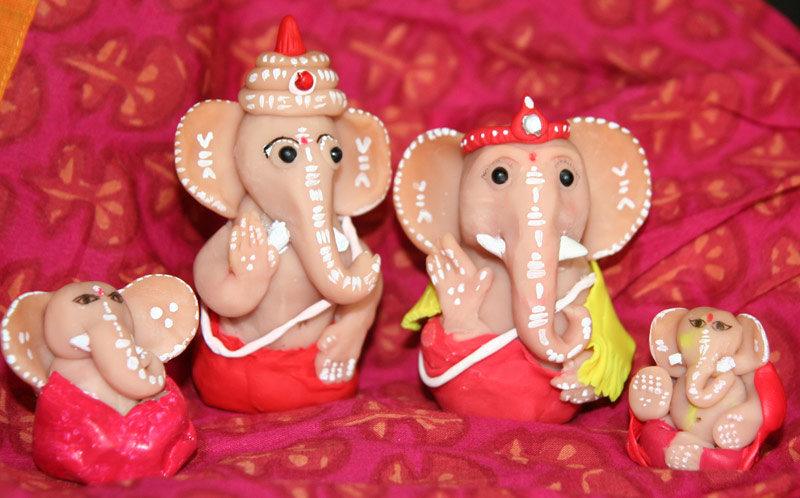new guest on my blog and her hand made ganesha s