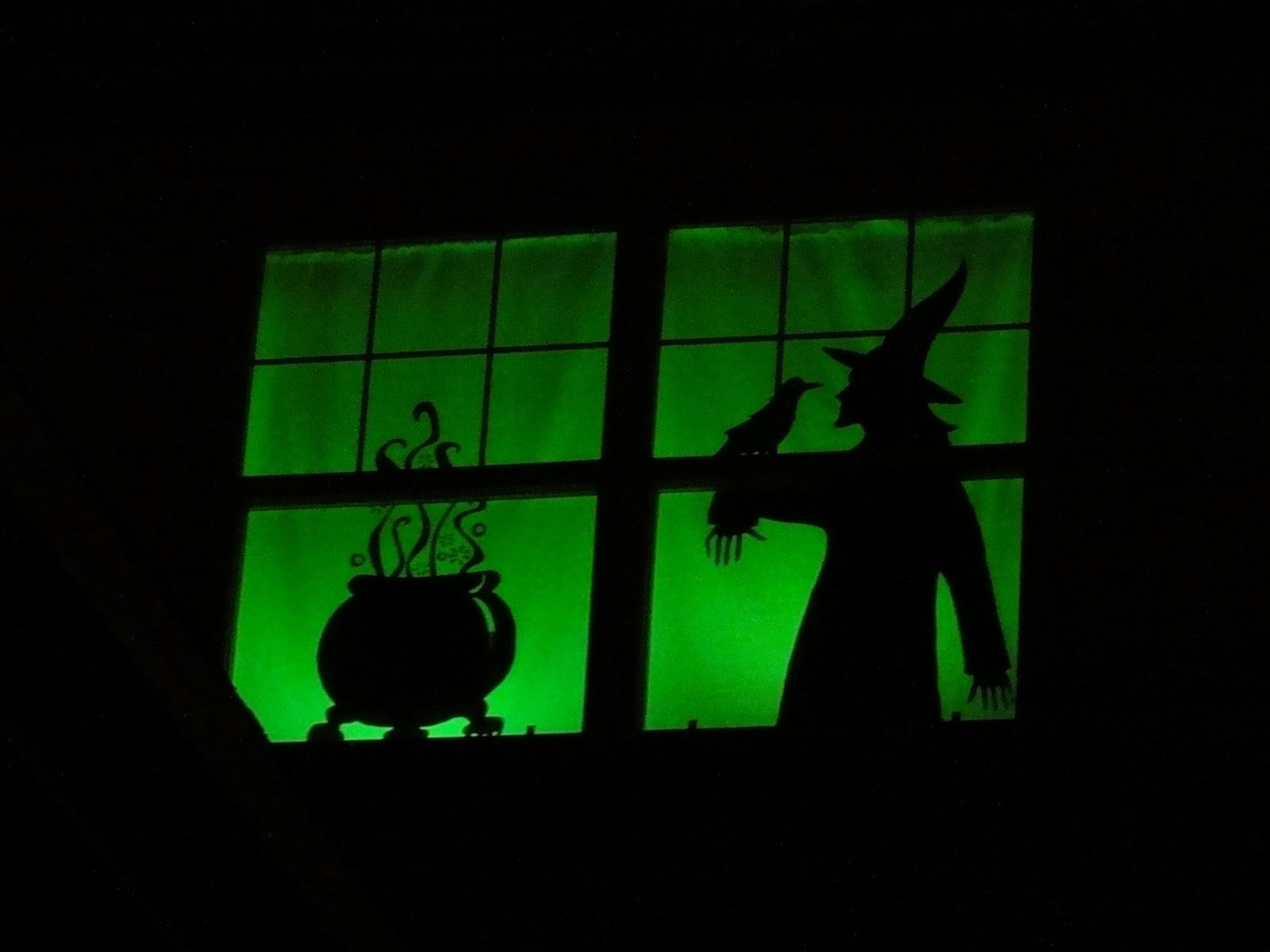 Birshykat halloween window silhouettes for Decoracion de halloween