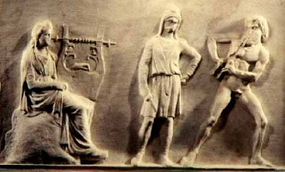 Musicians' contest, Greek bassrelief