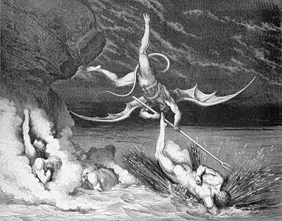 Hellish battles -Print by G Dore