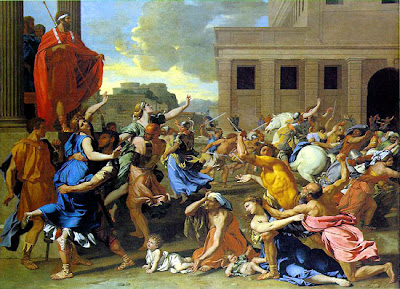 N Poussin: The Rape of the Sabine Women