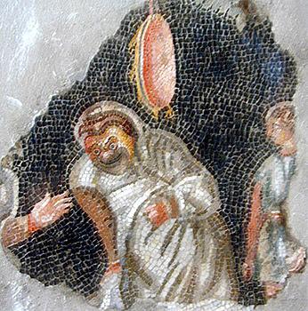 Actor- Fragment of Roman mosaic