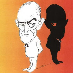 Freud disegnato da Gross